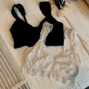 (2) Aerie Lace Bralettes - M DD
